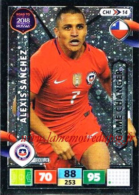 2018 - Panini Road to FIFA World Cup Russia Adrenalyn XL - N° CHI14 - Alexis SANCHEZ (Chili) (Game Changer)