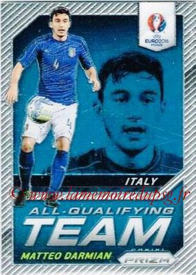 Euro 2016 Panini Prizm - N° AQ-05 - Matteo DARMIAN (Italie) (All-Qualifying Team)