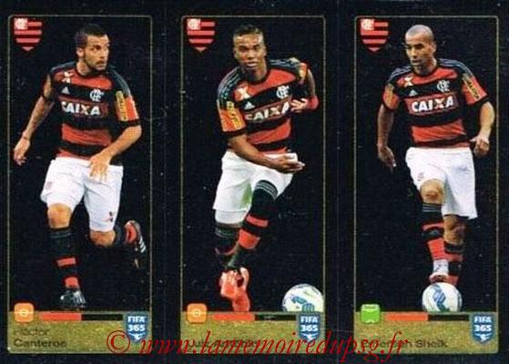 2015-16 - Panini FIFA 365 Stickers - N° 210-211-212 - Hector CANTEROS + Luiz ANTONIO + Emerson SHEIK (CR Flamengo)