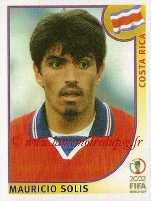 2002 - Panini FIFA World Cup Stickers - N° 235 - Mauricio SOLIS (Costa Rica)