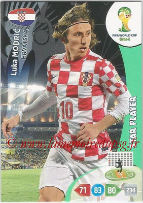 2014 - Panini FIFA World Cup Brazil Adrenalyn XL - N° 197 - Luka MODRIC (Croatie) (Star Player)