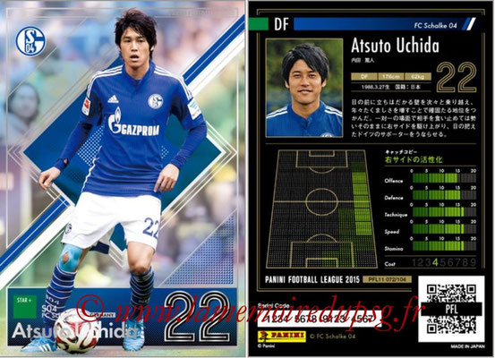 Panini Football League 2015 - PFL11 - N° 072 - Atsuto UCHIDA (FC Schalke 04) (Star +)