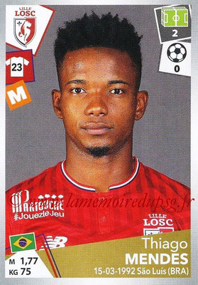 2017-18 - Panini Ligue 1 Stickers - N° 171 - Thiago MENDES (Lille)