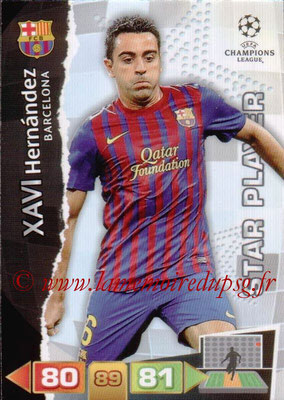 2011-12 - Panini Champions League Cards - N° 028 - Xavi HERNANDEZ (FC Barcelone) (Star Player)