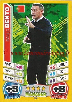 Topps Match Attax England 2014 - N° 298 - Paulo BENTO (Entraîneur Portugal)
