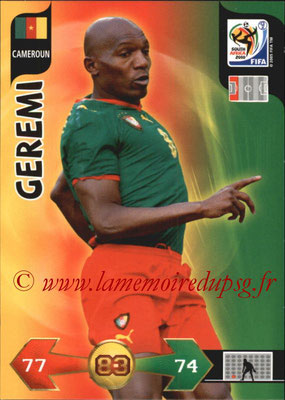 2010 - Panini FIFA World Cup South Africa Adrenalyn XL - N° 055 - GEREMI (Cameroun)