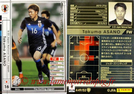 2015-16 - Panini WCCF - N° A49 - Takuma ASANO (Japon)