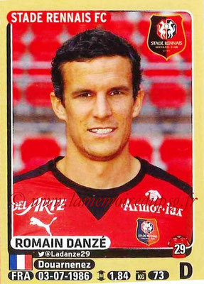 2015-16 - Panini Ligue 1 Stickers - N° 393 - Romain DANZE (Stade Rennais FC)