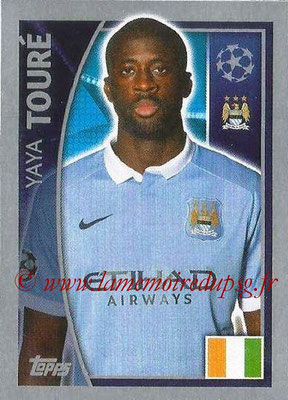 2015-16 - Topps UEFA Champions League Stickers - N° 254 - Yaya TOURÉ (Manchester City FC)