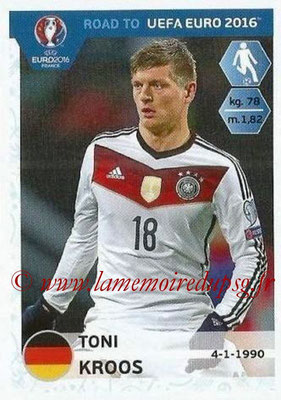 Panini Road to Euro 2016 Stickers - N° 055 - Toni KROOS (Allemagne)