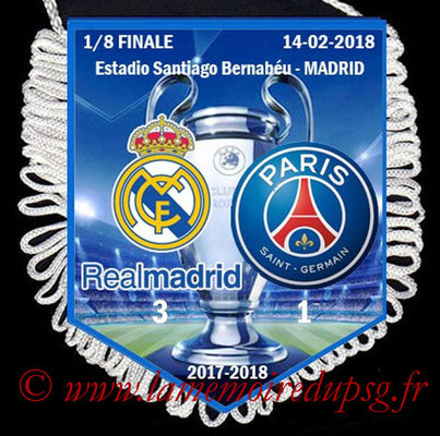 Fanion Real Madrid-PSG  2017-18