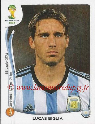 2014 - Panini FIFA World Cup Brazil Stickers - N° 420 - Lucas BIGLIA (Argentine)