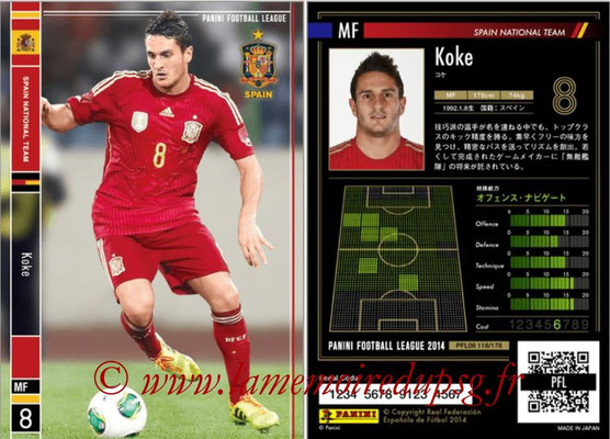 Panini Football League 2014 - PFL08 - N° 118 - KOKE (Espagne)