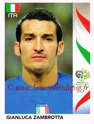 2006 - Panini FIFA World Cup Germany Stickers - N° 327 - Gianluca ZAMBROTTA (Italie)