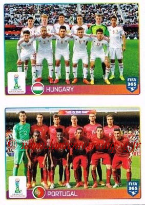 2015-16 - Panini FIFA 365 Stickers - N° 039-040 - Hongrie + Portugal (FIFA U20 World Cup)
