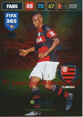 2016-17 - Panini Adrenalyn XL FIFA 365 - N° 050 - JUAN (Flamengo) (Fans' Favourite)