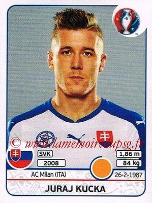 Panini Euro 2016 Stickers - N° 222 - Juraj KUCKA (Slovénie)