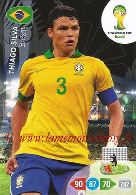2014 - Panini FIFA World Cup Brazil Adrenalyn XL - N° 051 - Thiago SILVA (Brésil)