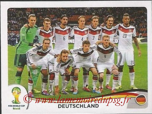 2014 - Panini FIFA World Cup Brazil Stickers - N° 489 - Equipe Allemagne