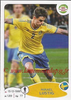 2014 - Panini Road to FIFA World Cup Brazil Stickers - N° 345 - Mikael LUSTIG (Suède)