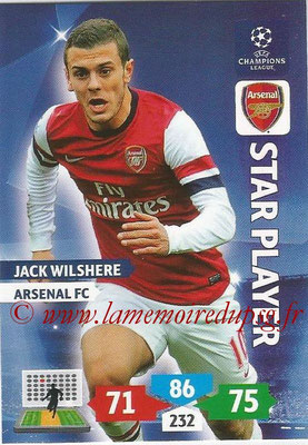 2013-14 - Adrenalyn XL champions League N° 050 - Jack WILSHERE (Arsenal FC) (Star Player)