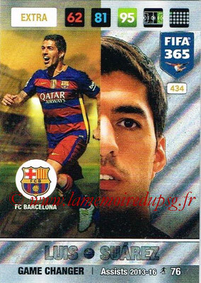 2016-17 - Panini Adrenalyn XL FIFA 365 - N° 434 - Luis SUAREZ (FC Barcelone) (Game Changer) (Nordic Edition)