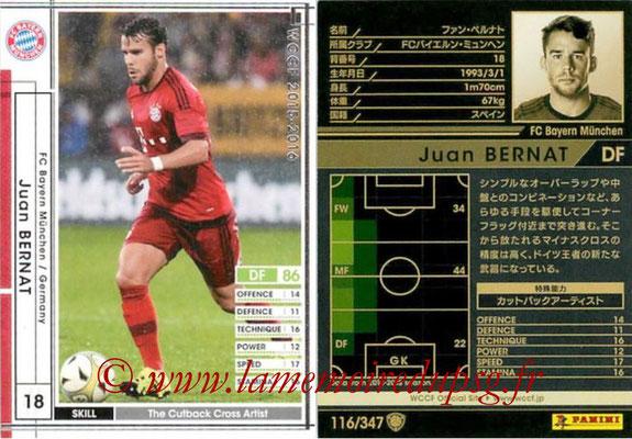 2015-16 - Panini WCCF - N° 116 - Juan BERNAT (FC Bayern Munich)