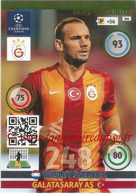 2014-15 - Adrenalyn XL champions League N° 266 - Wesley SNEIJDER (Galatasaray AS) ( Fans' Favourite)
