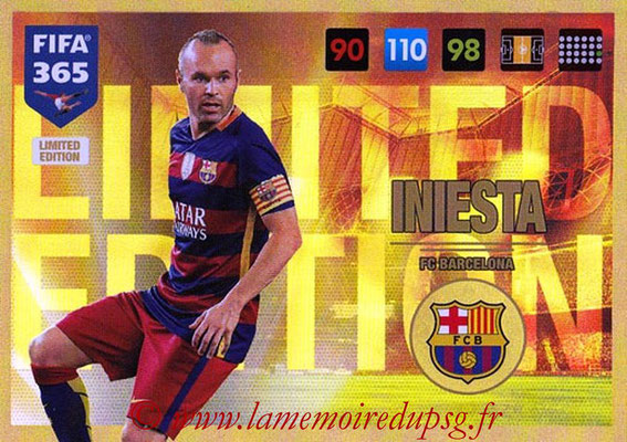 2016-17 - Panini Adrenalyn XL FIFA 365 - N° LE12 - Andrés INIESTA (FC Barcelone) (Limited Edition)