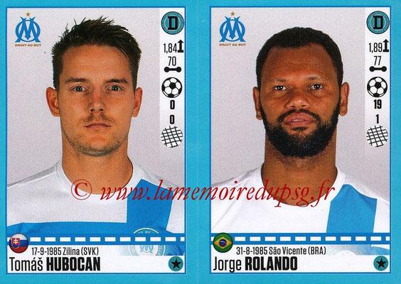 2016-17 - Panini Ligue 1 Stickers - N° 404 + 405 - Tomas HUBOCAN + Jorge ROLANDO (Marseille)