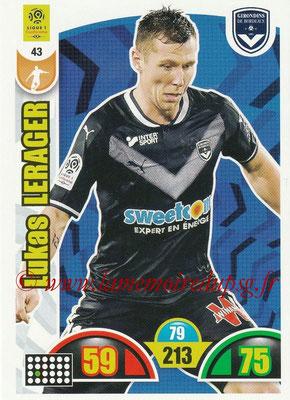 2018-19 - Panini Adrenalyn XL Ligue 1 - N° 043 - Lukas LERAGER (Bordeaux)