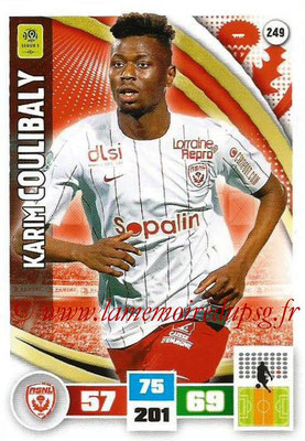 2016-17 - Panini Adrenalyn XL Ligue 1 - N° 249 - Karim COULIBALY (Nancy)