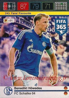 2015-16 - Panini Adrenalyn XL FIFA 365 - N° 243 - Benedikt HÖWEDES (Schalke 04) (Fans' Favourite)