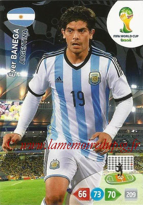 2014 - Panini FIFA World Cup Brazil Adrenalyn XL - N° 014 - Ever BANEGA (Argentine)