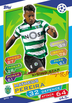 2016-17 - Topps UEFA Champions League Match Attax - N° SPO16 - Matheus PEREIRA (Sporting Club de Portugal) (Rising Star)