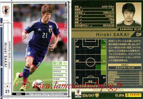 2015-16 - Panini WCCF - N° 326 - Hiroki SAKAI (Japon)