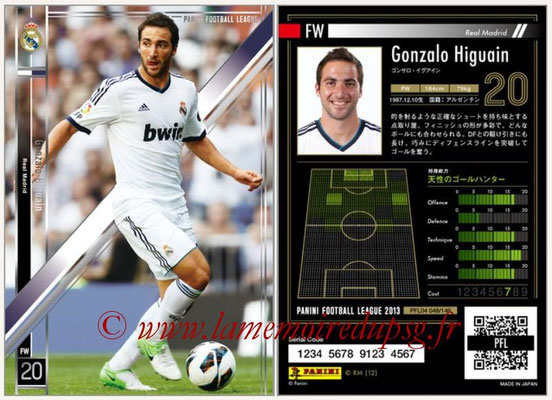 Panini Football League 2013 - PFL04 - N° 048 - Gonzalo HIGUAIN (Real Madrid)