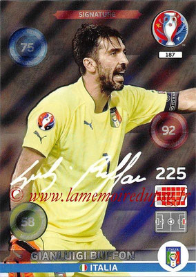 Panini Euro 2016 Cards - N° 187 - Gianluigi BUFFON (Italie) (Signature)