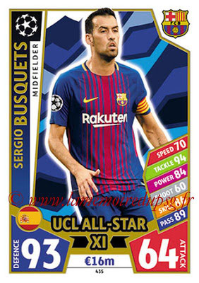 2017-18 - Topps UEFA Champions League Match Attax - N° 435 - Sergio BUSQUETS (FC Barcelone) (UCL All-Star XI)