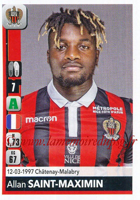 2018-19 - Panini Ligue 1 Stickers - N° 321 - Allan SAINT-MAXIMIN (Nice)