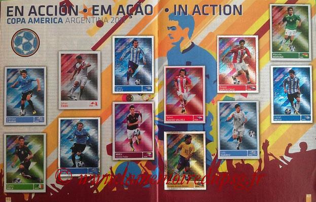 Panini Copa América Argentina 2011 - Pages 46 et 47 - En action