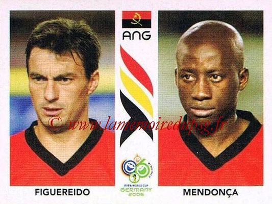 2006 - Panini FIFA World Cup Germany Stickers - N° 307 - FIGUEREIDO + MENDOCA (Angola)