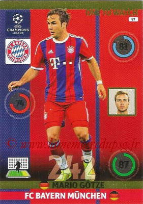 2014-15 - Adrenalyn XL champions League N° 097 - Mario GOTZE (Bayern Munich) (One to watch)