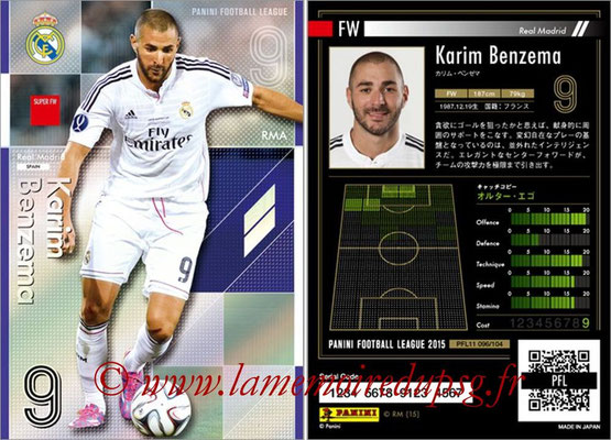 Panini Football League 2015 - PFL11 - N° 096 - Karim BENZEMA (Real Madrid) (Super FW)