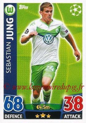 2015-16 - Topps UEFA Champions League Match Attax - N° 110 - Sebastian JUNG (VFL Wolfsburg)