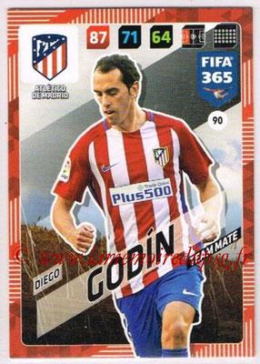 2017-18 - Panini FIFA 365 Cards - N° 090 - Diego GODIN (Atletico Madrid)