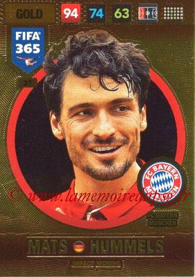 2016-17 - Panini Adrenalyn XL FIFA 365 - N° 031 - Mats HUMMELS (FC Bayern Munich) (Impact Signing)