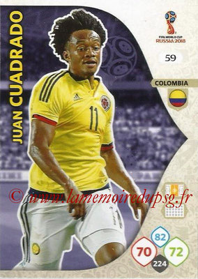2018 - Panini FIFA World Cup Russia Adrenalyn XL - N° 059 - Juan CUADRADO (Colombie)