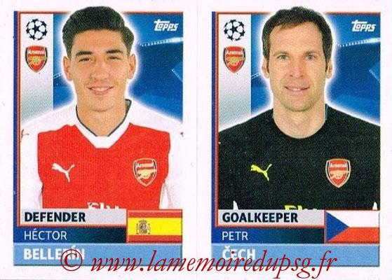 2016-17 - Topps UEFA Champions League Stickers - N° ARL 4-5 - Petr CECH + Héctor BELLERIN (Arsenal FC)