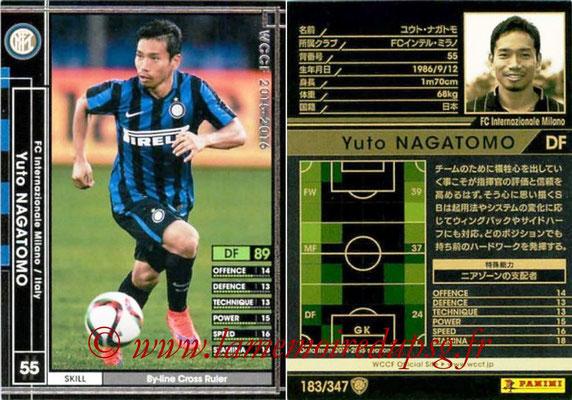 2015-16 - Panini WCCF - N° 183 - Yuto NAGAMOTO (FC Inter Milan)